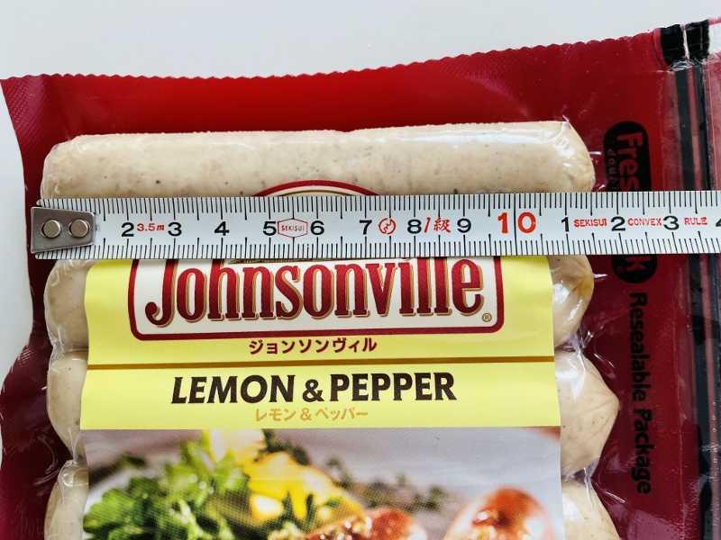 コストコで買った商品のレポ JV レモン&ペッパー 円 Johnsonville ジョンソンウィル ソーセージ 味