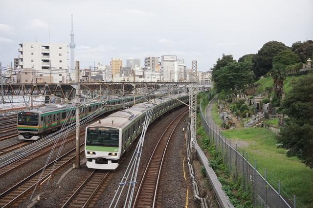EF81 81牽引 カシオペア紀行盛岡行き & 日暮里 界隈4