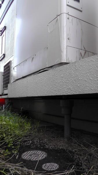 エコキュート貯湯ユニットの排水経路