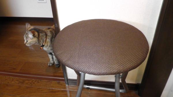 丸椅子にカバー