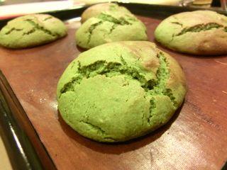 手抜き☆抹茶の甘食ケーキ2
