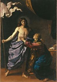 グエルチーノ聖母のもとに現れる復活したキリスト