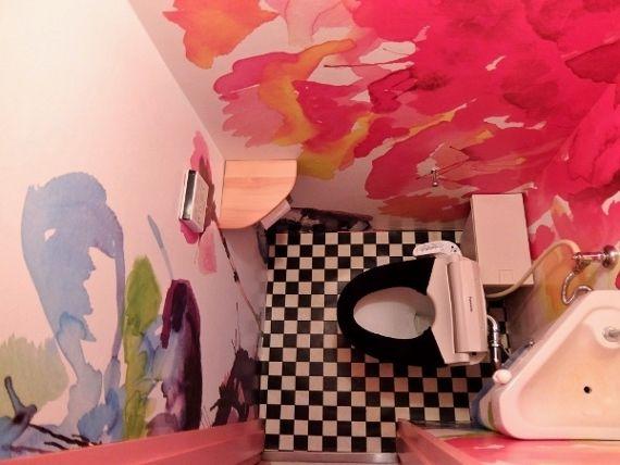 トイレのセルフリノベーション DIYでセルフリフォーム 女性でも簡単にクッションフロア貼れました