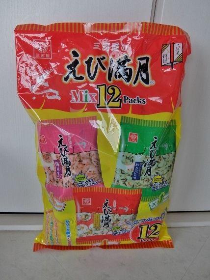 コストコ 三河屋製菓 えび満月 ミックス6パック