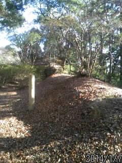 宍ヶ崎櫓の土塁1