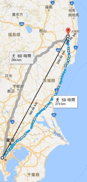 おおたかどや山標準電波送信所と横浜の位置関係