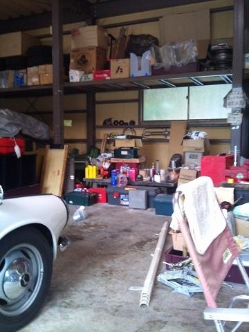 2012.03.17 車庫の整理整頓 002(ビフォー)