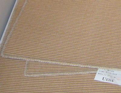 ウール混の麻の床材