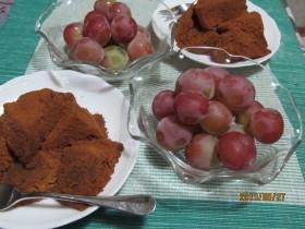 わらび餅とフルーツ