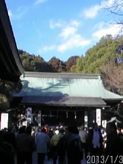 二荒山神社 すごい、人。 去年はもっと、少なかったのに。 と思ったら、去年は三が日... [ 宇