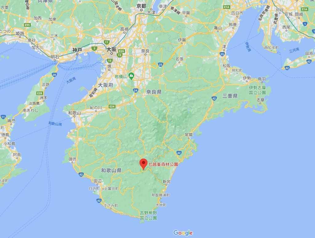七越峰森林公園 本宮大社 桜 花見 和歌山 地図