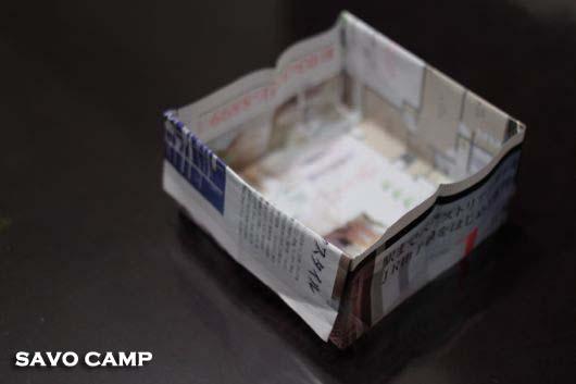 折り紙のゴミ箱