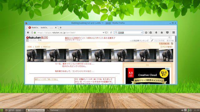 Slax 9.2.1のデスクトップ