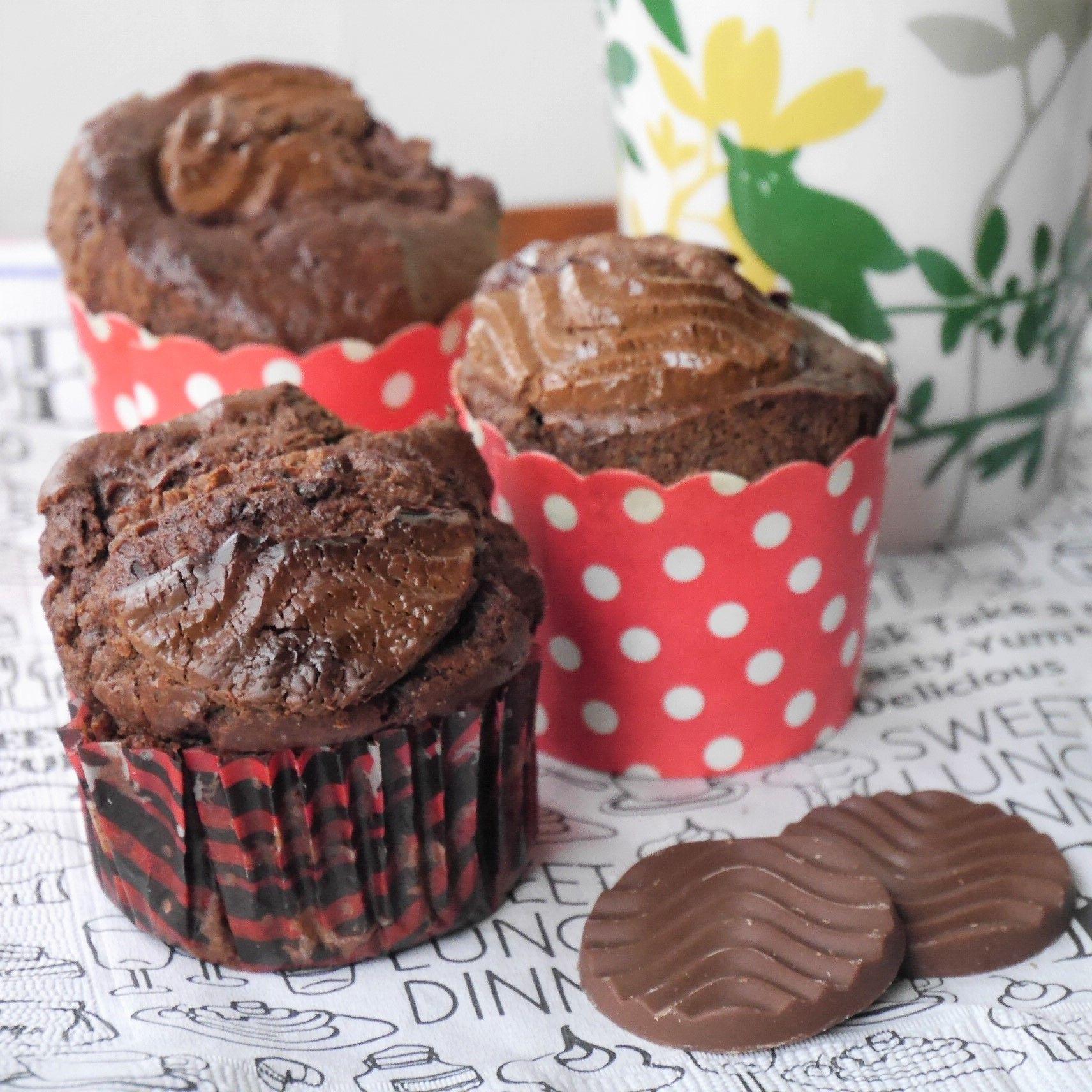 焼きチョコ風カップケーキ_大量生産