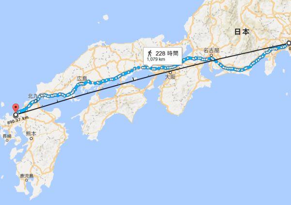 はがね山標準電波送信所と横浜の位置関係