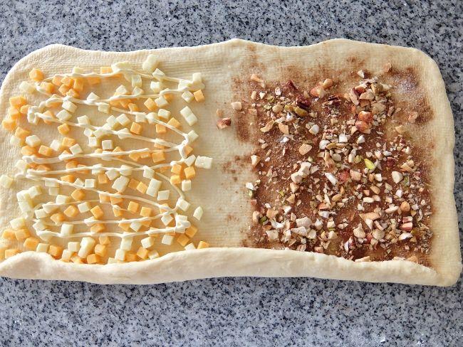 手こね ホームベーカリー チーズロールパン と シナモンロールパン