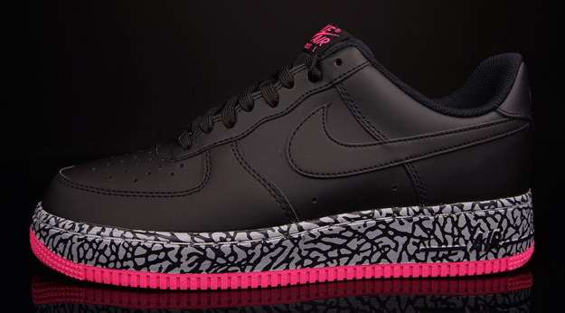Air Force 1 Black/Hyper Pink-Wolf Grey  1