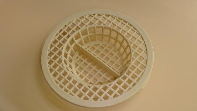 今まで使っていたバスルームの排水目皿