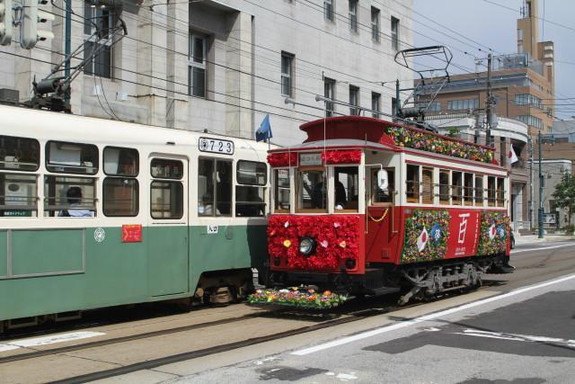 函館市電 100周年 レトロ電車 大行進