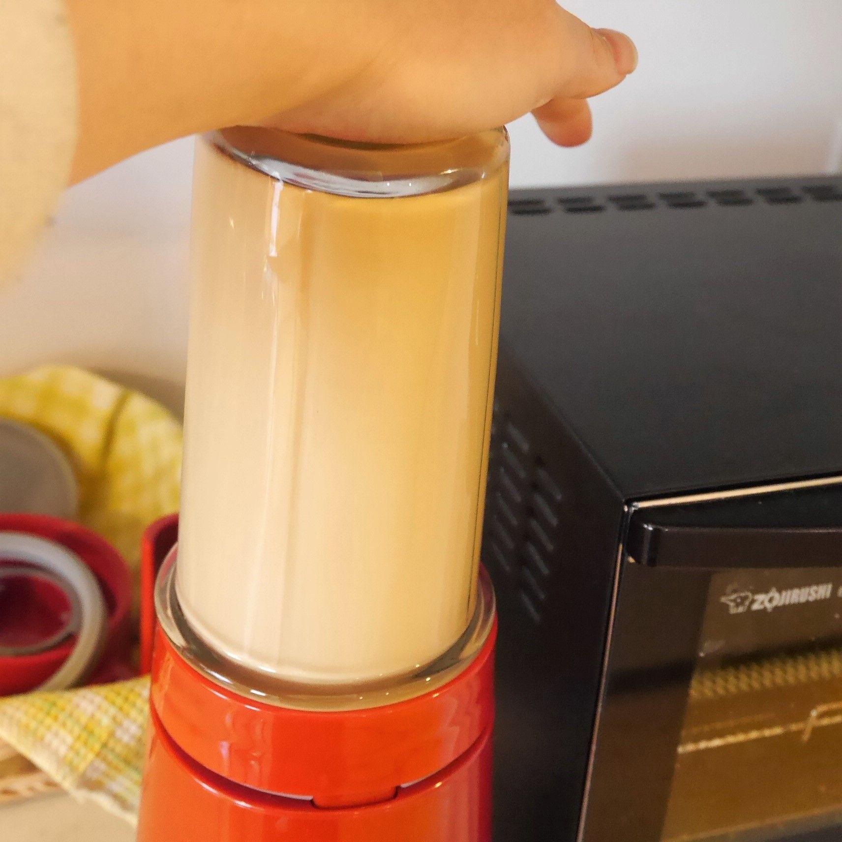 バターコーヒー_クッキングミキサー_撹拌後_乳化