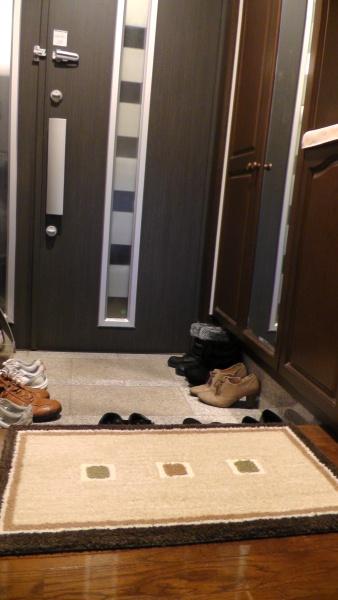 玄関マットと玄関ドア
