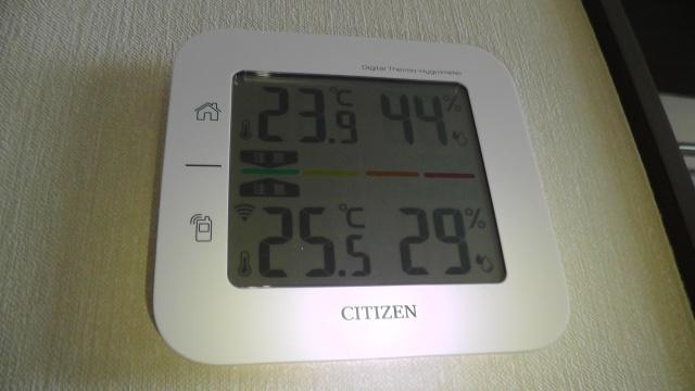 室内外湿温度計 CITIZEN コードレス温湿度計THD501