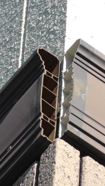 一条工務店の装飾モール出隅パーツが脱落した箇所