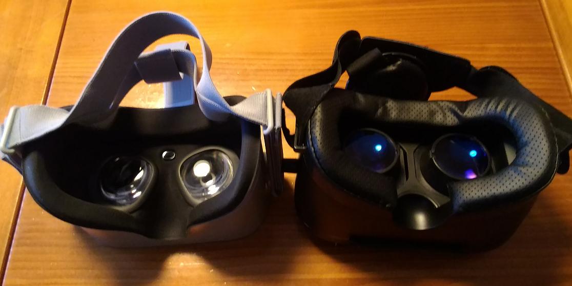 Oculus Go と SAMONIC のレンズ部比較