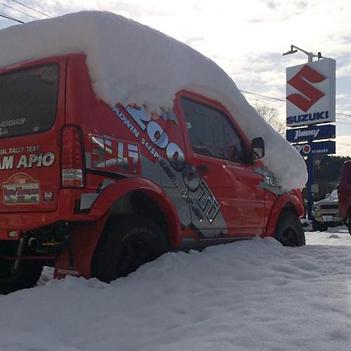 ジムニー 関東 大雪