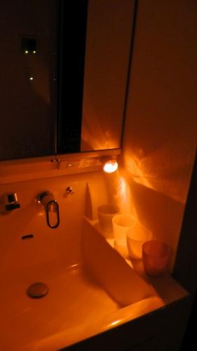 2階洗面所を照らすナイトライト