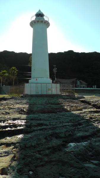 海側から見た野間埼灯台