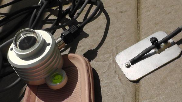 日照計と温度計