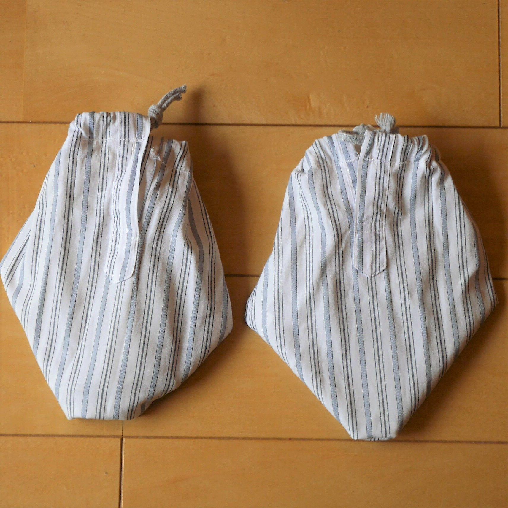 シューキーパー_袖先_つま先形にあわせて縫う