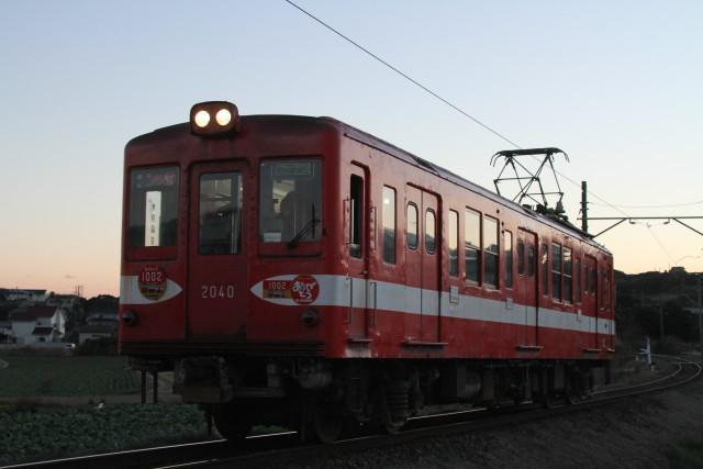 銚子電鉄「デハ1002」最終電車
