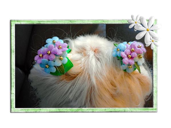 紫陽花の花髪飾り