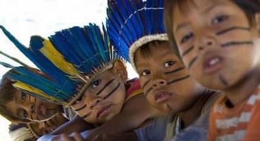 グアラニー族の子どもたち