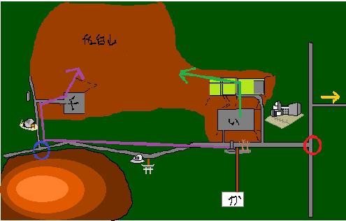 笠間城駐車場地図2