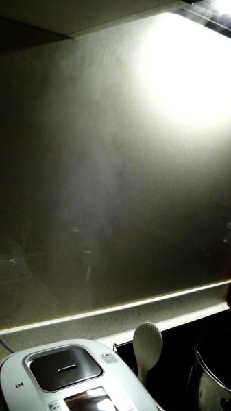 炊飯器の蒸気