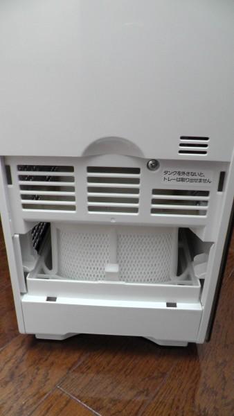 側面プレフィルターを外す 気化式加湿器 Panasonic FE-KXM07