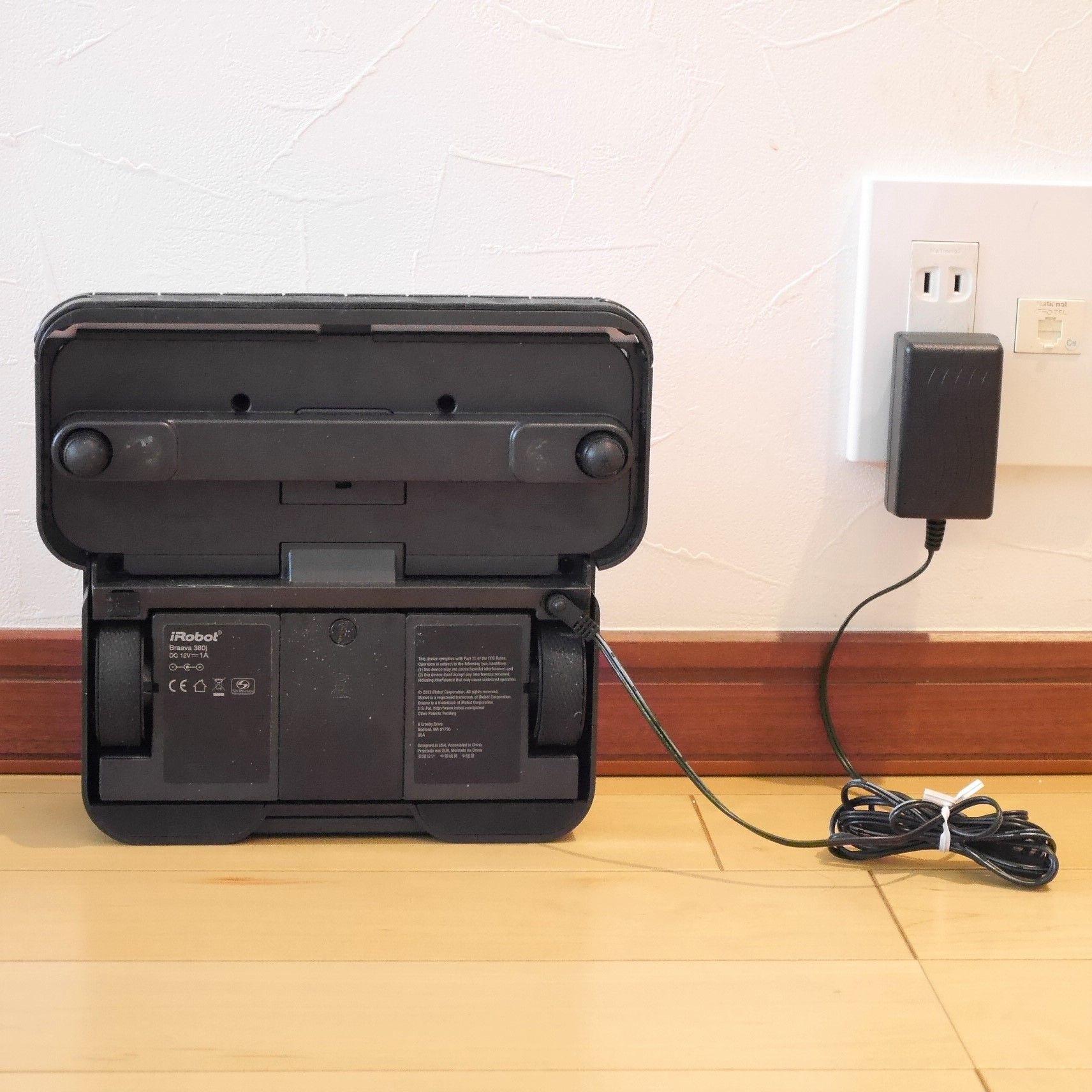ブラーバ_ACアダプターで充電