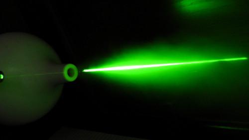 超音波加湿器にグリーンレーザー