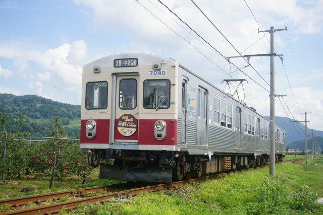 弘南鉄道 青いリンゴ 赤いリンゴ