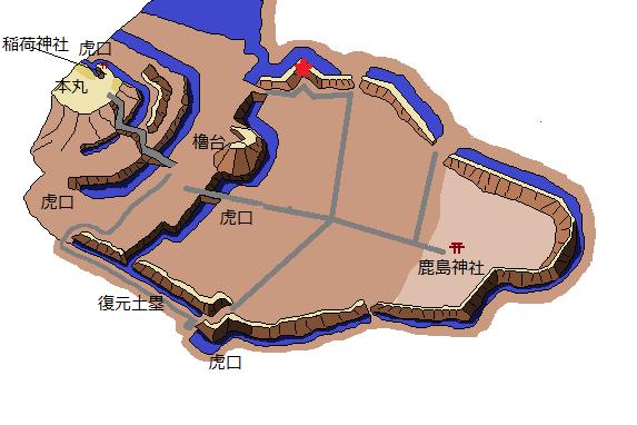 真壁城のらくがき地図