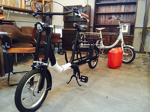 水を運べる自転車