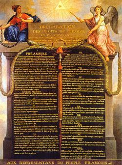フランス革命人権宣言書