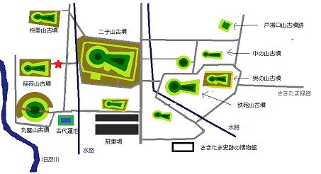 さきたま古墳群地図7