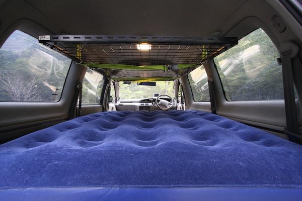 車中泊 エアマット ベッド 二段ベッド