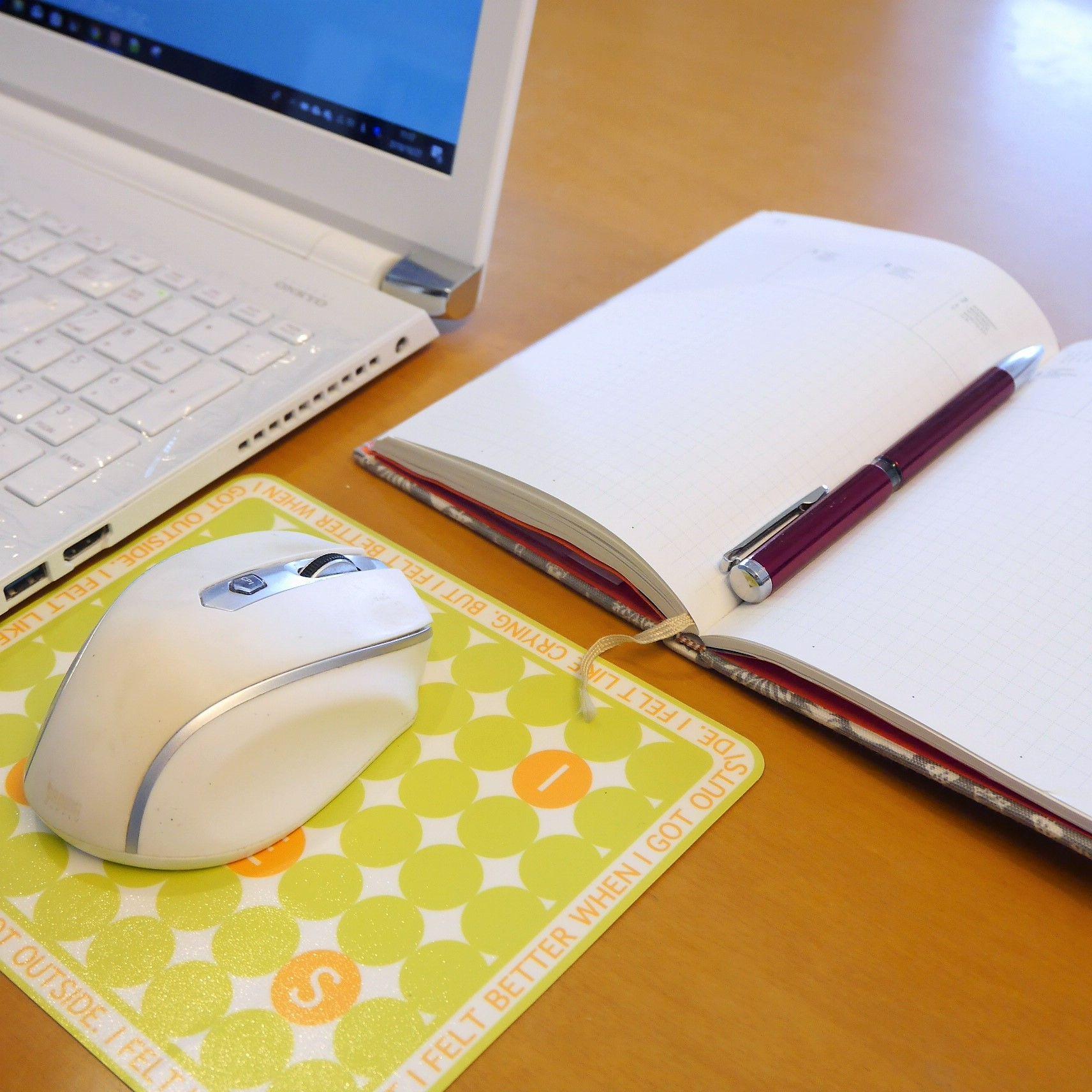 15inchPC_マウス&手帳