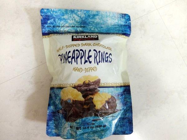 コストコで買った商品のレポ KS チョコレートパイナップル リング 円