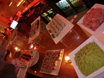 お寿司のブッフェ